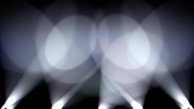 Spotlights on Wall Background Loop  White