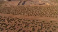 AERIAL Sprawling sand and gravel quarry, El Paso, Texas, USA