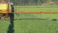 HD: Spraying Crop With A Tractor