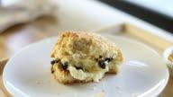 Spreading jam on a scone