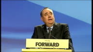 Alex Salmond speech SCOTLAND Aberdeen INT Nicold Sturgeon MSP introductory speech SOT / Alex Salmond MSP speech SOT **Speech transcript please check...