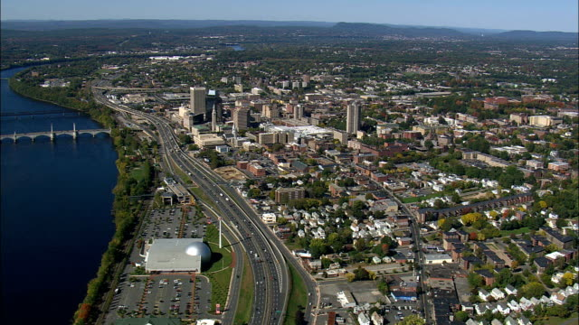 Springfield - Aerial View - Massachusetts,  Hampden County,  United States