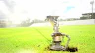 Sprinklers in the stadium