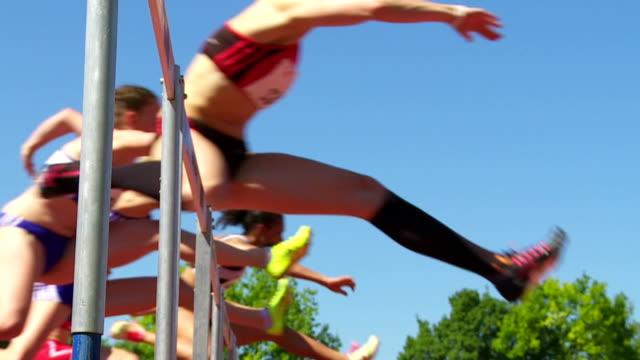SLO MO Sprint Hurdle Race For Women