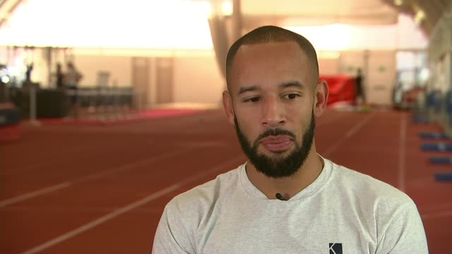 Sprinter James Ellington's future in doubt 'because of a cut in his funding' James Ellington stretching James Ellington interview SOT