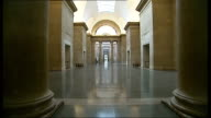 Sprinters race through Tate Britain in latest artwork by Martin Creed ENGLAND London Tate Britain INT Various of artist Martin Creed's art...