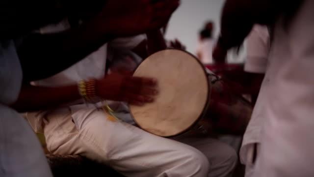 Sri Lanka children playing on Drum