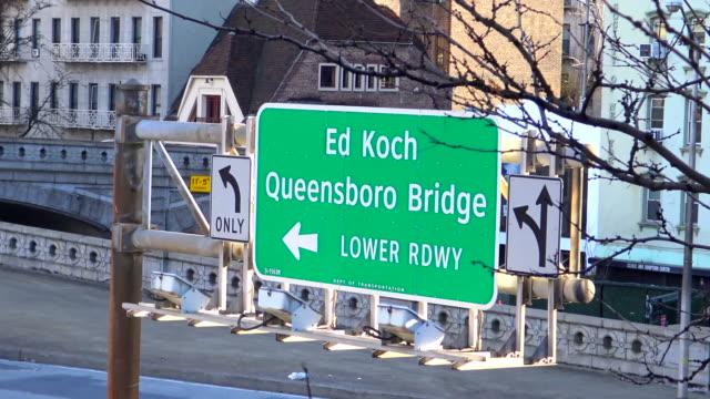 59 St. Bridge, Road Sign, Manhattan, New York City