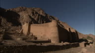 St. Catherine's Monastery nestles at the bottom of a desert gorge near Mt. Sinai Egypt. Available in HD.