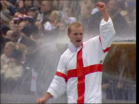 St George's Day English national pride ITN LIB Rugby fans celebrating England World Cup victory