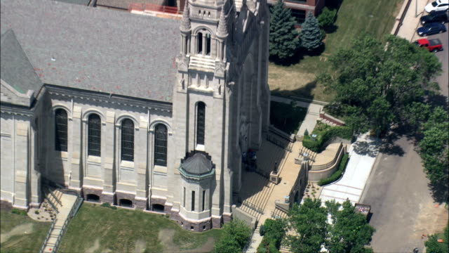 St Joseph's Cathedral - Aerial View - South Dakota, Minnehaha County, United States