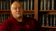 Bob Crow interview on travel disruption ENGLAND London INT Bob Crow interview SOT On lack of maintenance staff Various shots of Crow reading book and...