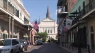 WS St. Louis Cathedral from Orleans Ave., New Orleans, Louisiana, USA