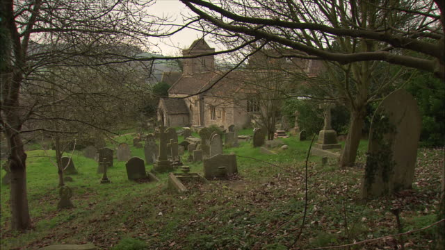WS St Mary church and old cemetery in Swainswick village / Somerset, United Kingdom