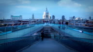 St Pauls and Millenium Bridge, London