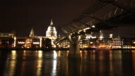 St Paul's Cathedral and the Thames timelapse HD