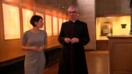 St Paul's Cathedral appoints first female chorister Carris Jones interview SOT Feel lucky to get the job Blurred shot of circular staircase PULL...