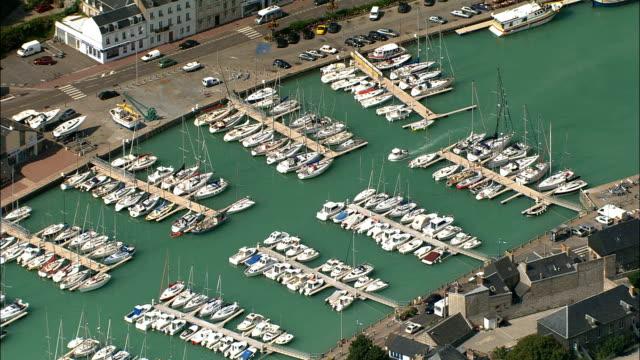 St Valery-En-Caux  - Aerial View - Haute-Normandie, Seine-Maritime, France