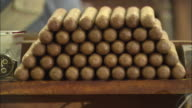 CU, stack of cigars, Havana, Cuba