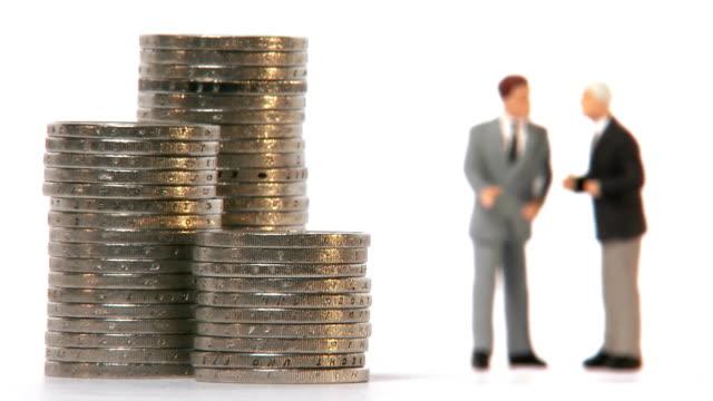 Stacks of coins decreasing Sweden.