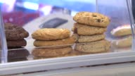 Stacks of cookies on display at Cookie Dough Creations shop on July 4 2014 in Naperville Illinois