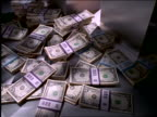 Stacks of US money