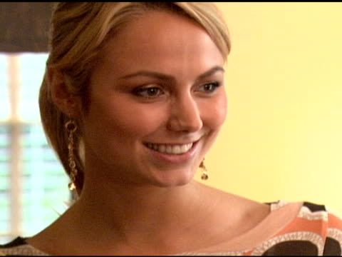 Stacy Keibler at the 'French Connection' Celebrity Styling Launch at Chateau Marmont in West Hollywood California on June 22 2006