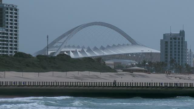 WS Stadium past ocean pier / Durban, Kwaulu Natal, South Africa