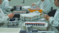 T/L MS Staff at pharmaceutical company putting restricted pill bottles in boxes manually / Auckland, New Zealand