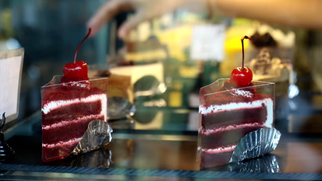 staff put price tag in the cake showcase