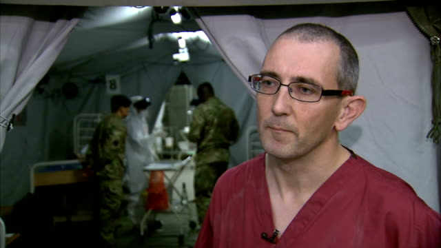 Interviews ENGLAND Yorkshire York Army Medical Services Training Centre INT Dr Roger Alcock interview SOT Donna Wood interview SOT Mohamed Koker...