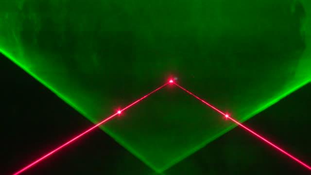 Stage colored laser lights