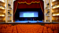Stageseats and ceiling of the National Theater Alicia Alonso The landmark was rebuilt and reopened to the public in January 1st by Raul Castro NO