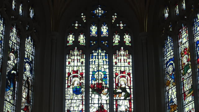 MS Stained glass windows at St John's Episcopal Church / Edinburgh, United Kingdom
