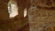 Stairs at Bonifacio fortress, Calvi Corsica, Dolly shot