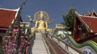 Stairs to Big Buddha statue at Wat Phra Yai temple