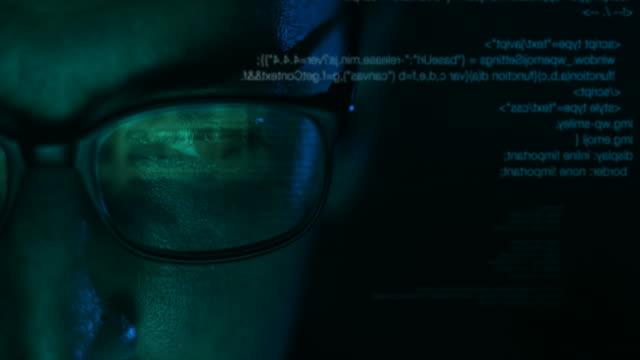 Stalker, Businessman or Hacker Man Working On Computer