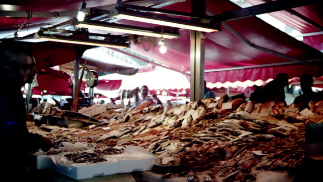 Stall on a fish market