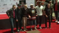 Stan Lee Chadwick Boseman James Gunn Clark Gregg Kevin Feige Todd McFarlane at Marvel Comics Legend Stan Lee's Hand Footprint Ceremony at TCL Chinese...