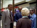 Warrington MS Sorrell LR through shopping centre John Nott with him EXT SOF 'Mr Hoyle has said ZOOM on our streets now' CAS EX ENG ITN 118mins TX'D...