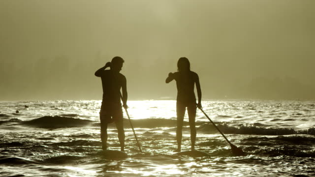 Stand up Paddleboarding in the ocean