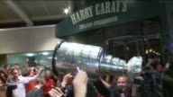 WGN Stanley Cup Arrives At Harry Caray's on June 24 2013 in Chicago Illinois