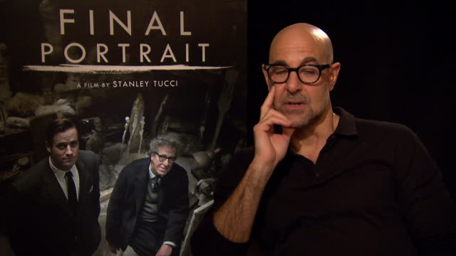 INTERVIEW Stanley Tucci on geniuses and chaos at Berlin Film Festival 'Final Portrait' Interviews at Berlinale Palast on February 11 2017 in Berlin...