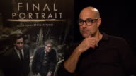 INTERVIEW Stanley Tucci on the creative process being torturous at Berlin Film Festival 'Final Portrait' Interviews at Berlinale Palast on February...