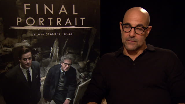 INTERVIEW Stanley Tucci on the inspiration for the film at Berlin Film Festival 'Final Portrait' Interviews at Berlinale Palast on February 11 2017...