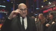 INTERVIEW Stanley Tucci on the warm welcome from Berlin at Berlin Film Festival 'Final Portrait' Red Carpet at Berlinale Palast on February 11 2017...