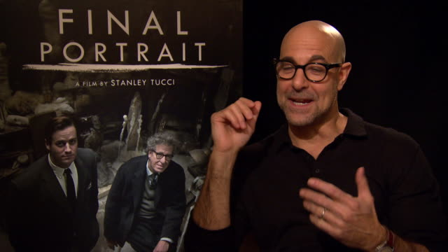 INTERVIEW Stanley Tucci on working as a director at Berlin Film Festival 'Final Portrait' Interviews at Berlinale Palast on February 11 2017 in...