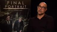 INTERVIEW Stanley Tucci on working with Geoffrey Rush and Armie Hammer at Berlin Film Festival 'Final Portrait' Interviews at Berlinale Palast on...