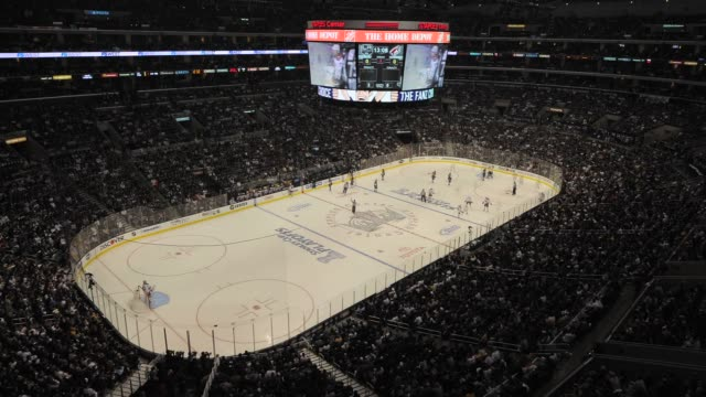 Staples Center Arena Transition Timelapse Staples Center Arena Transition Timelapse on May 21 2012 in Los Angeles California