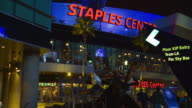 MS, Staples Center at night, Los Angeles, California, USA,